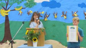 Auszeichnungsfeier zur Fairtrade School am 26.07.2017